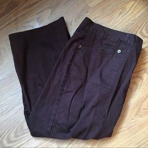 ZANA DI brown denim Capri pants-Size 22